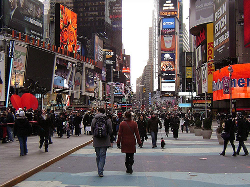 Broadway New York Fussgaengerzone