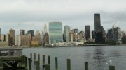 Blick von Long Island auf die New Yorker Skyline