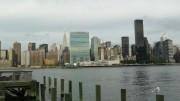 Blick von Long Island auf die New Yorker Skyline