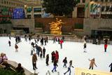 Rockefeller Eisbahn an Weihnachten