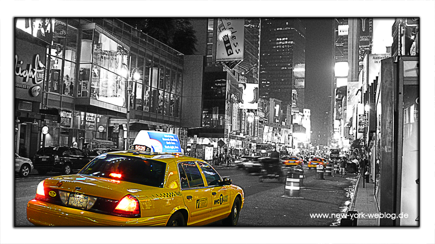 new york weblog taxi am times square bilder. Black Bedroom Furniture Sets. Home Design Ideas